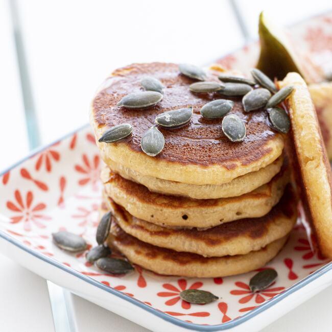 Beach breakfast & brunch pancakes available at Só Verão restaurant.