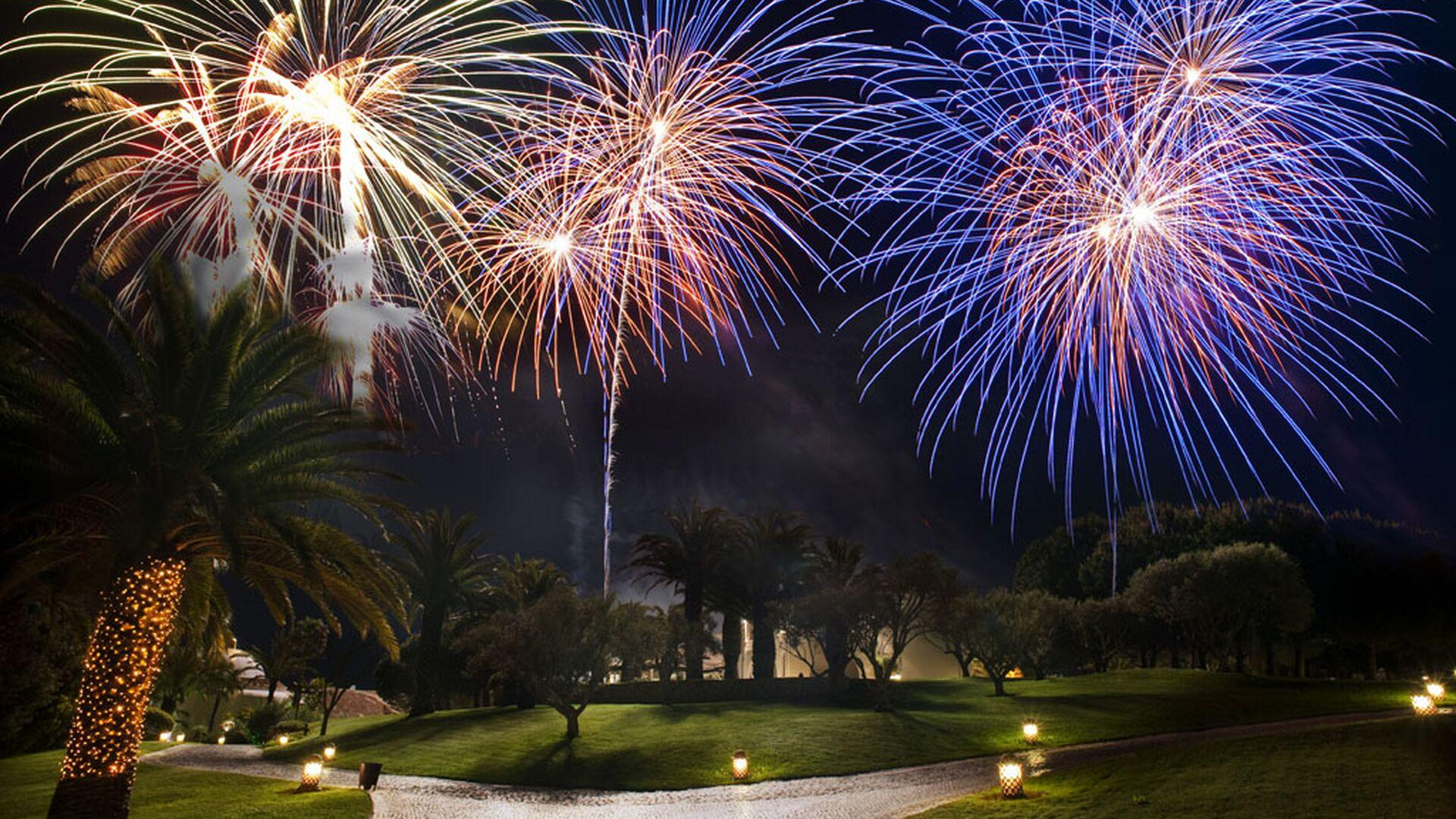Celebrations and Events: Fire work spectacle.
