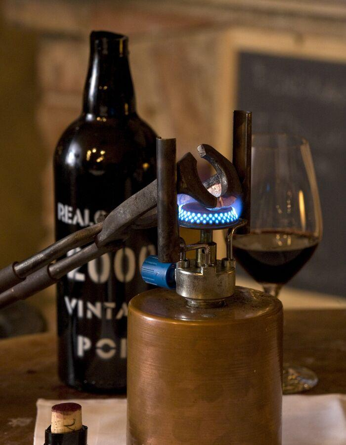 Tools and wine bootle at Cave de Vinhos