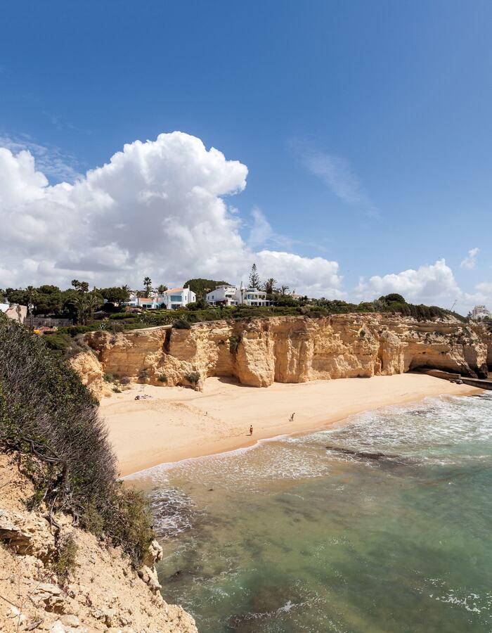 Coastal view of Algarve region
