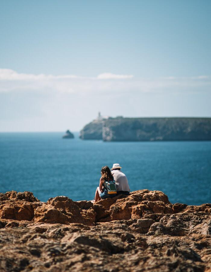 Couple admiring exploring beyond the resort